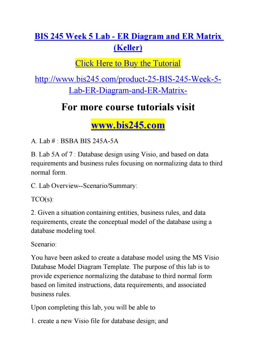 Bis 245 week 5 lab er diagram and er matrix keller by alexx036 bis 245 week 5 lab er diagram and er matrix keller by alexx036 issuu baditri Images