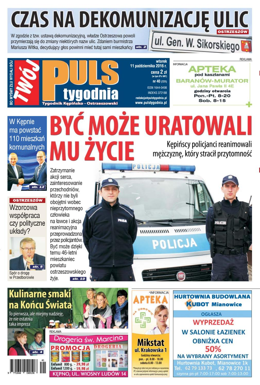 9182adb8b11e77 Twój Puls Tygodnia - nr 721 - 11 października 2016 r. by Puls Tygodnia -  issuu
