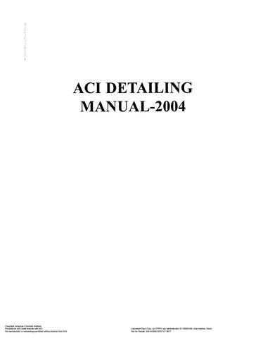 Aci Detailing Manual Sp66 By Muhammad Faheem Latif Issuu