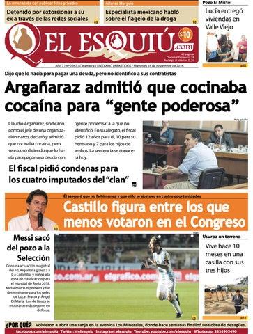 9cdcda209b224 Miércoles 16 de noviembre de 2016 by Editorial El Esquiú - issuu