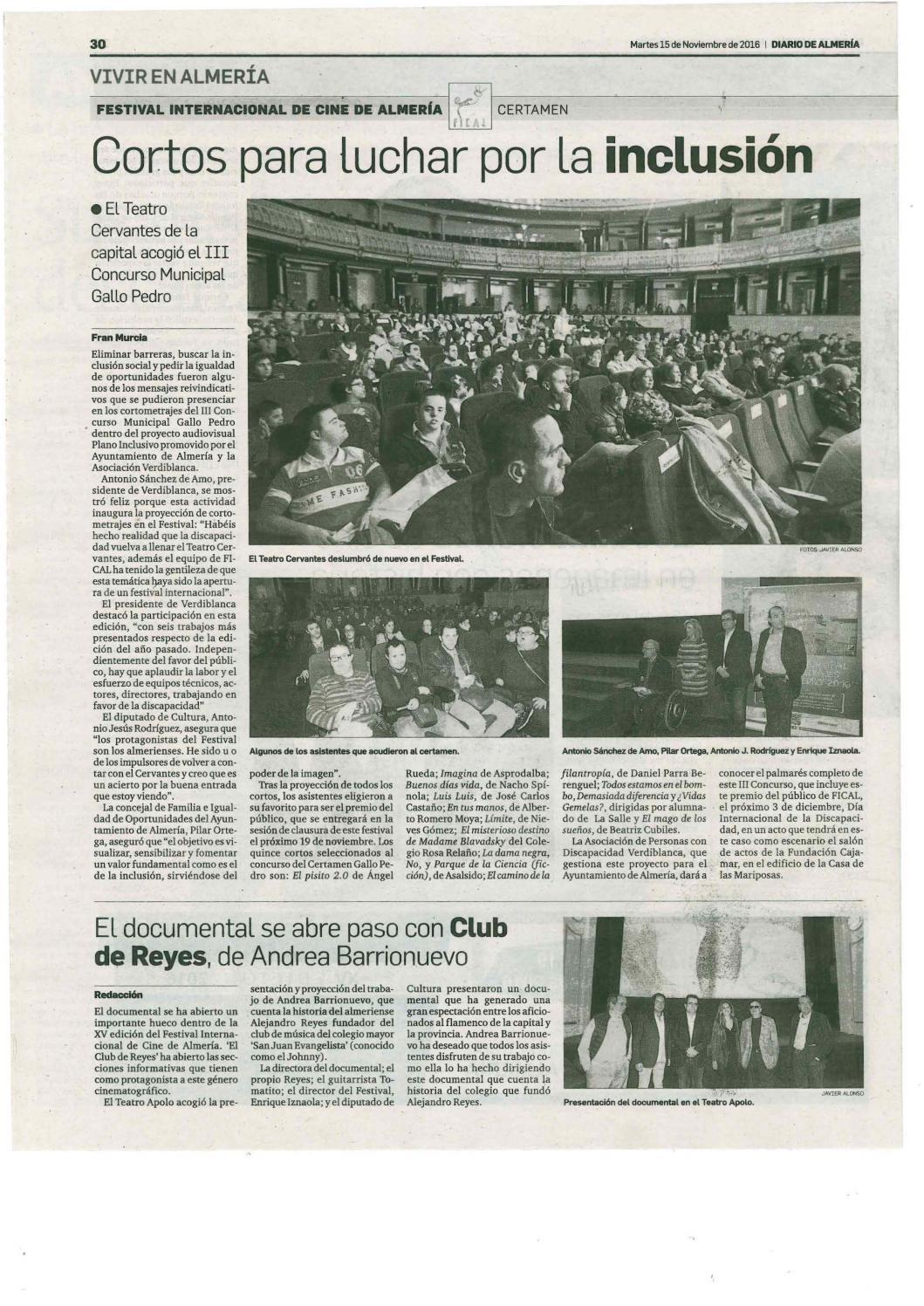 Dossier prensa discapacidad 15 16 noviembre by Asociación ...