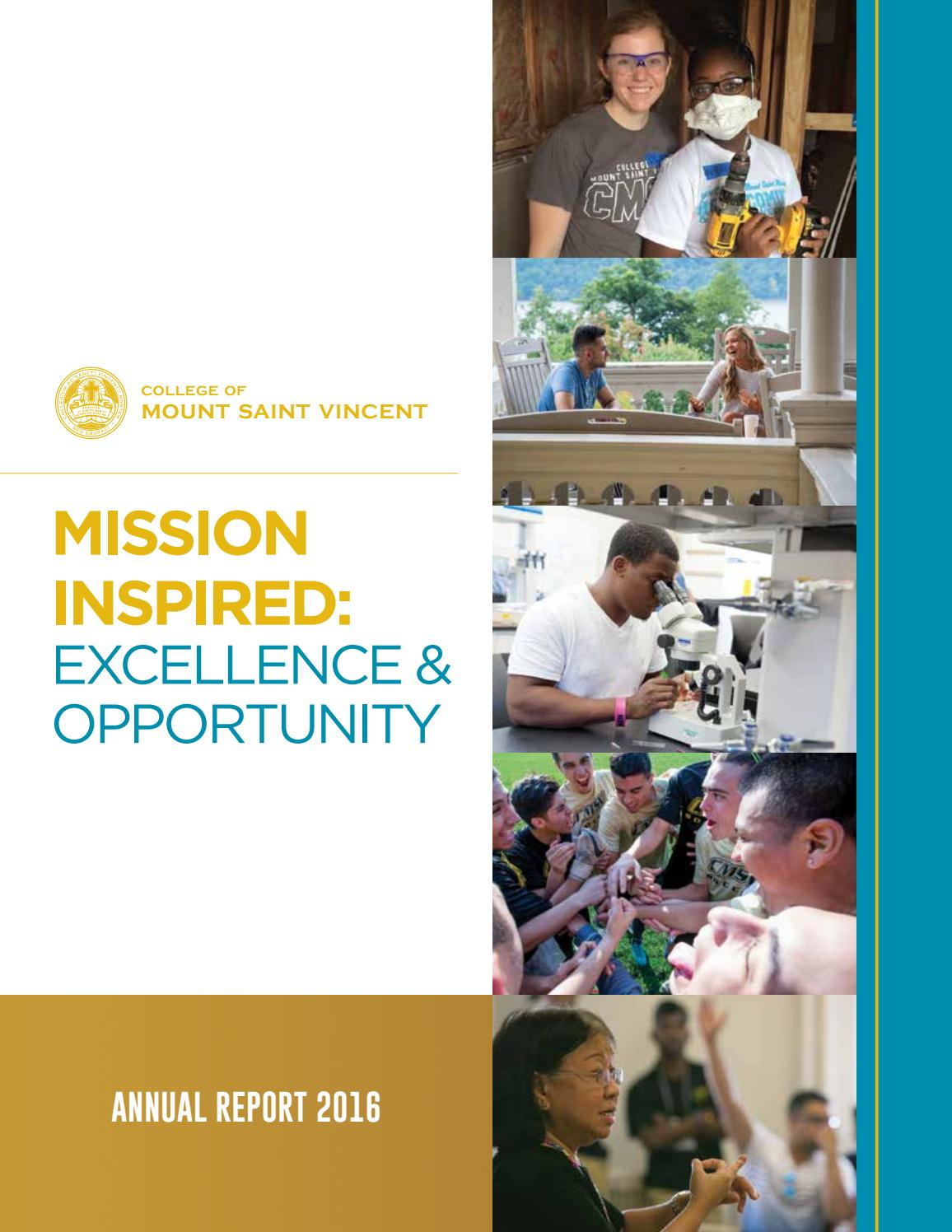 Annual Report 2016 by College of Mount Saint Vincent - issuu