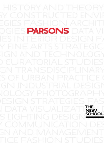 2016 Parsons School Of Design Graduate Viewbook By The New School Issuu
