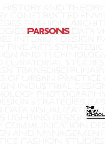 2016 Parsons School Of Design Graduate Viewbook