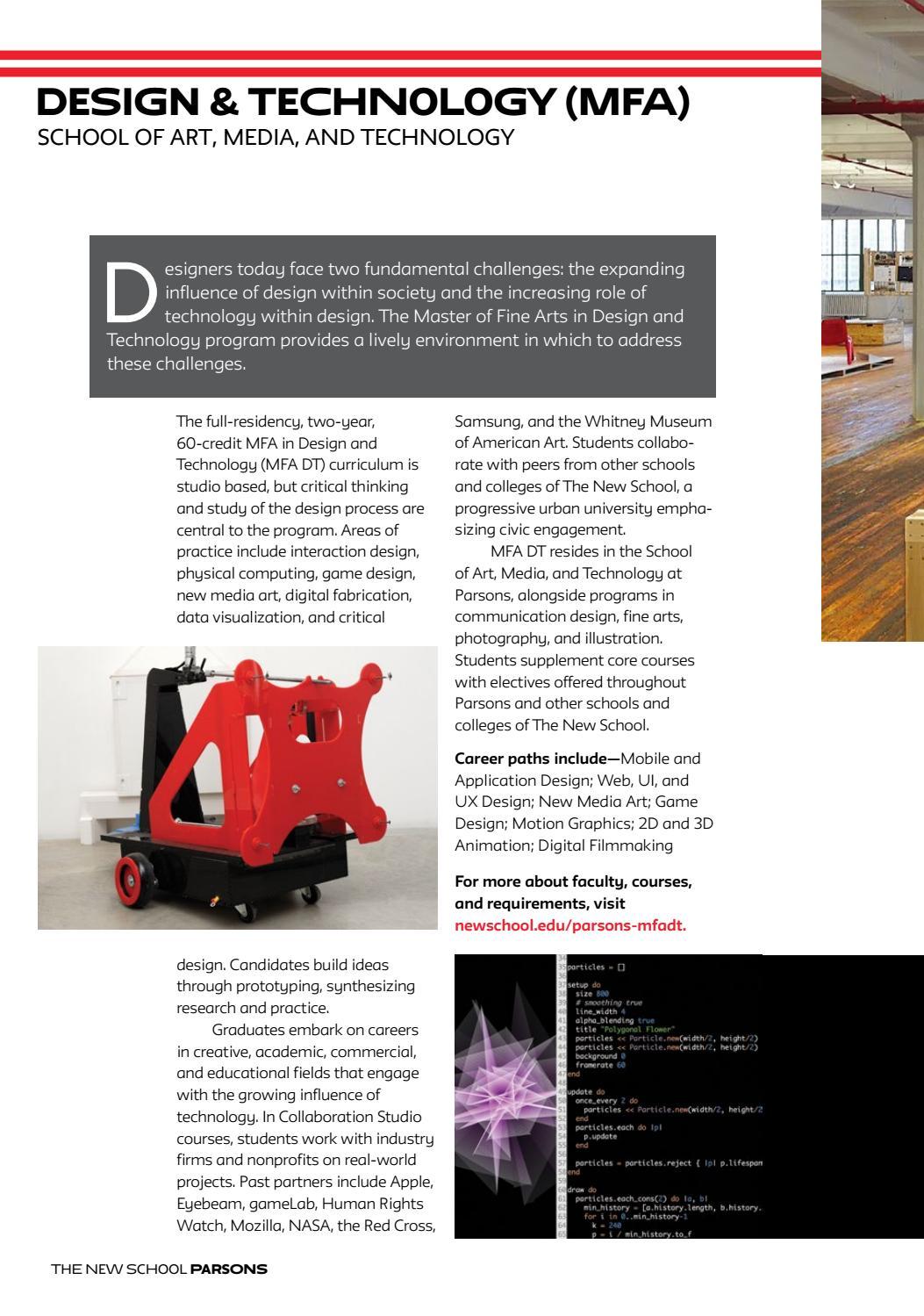 2016 Parsons School Of Design Graduate Viewbook By The New School Issuu