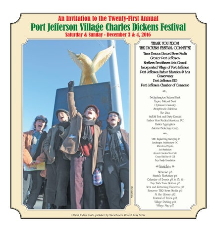 Charles dickens festival 2016 by tbr news media issuu for Crazy fish port jeff