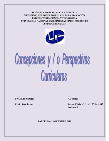 Objetivo 3 concepciones y perspectivas curriculares by elicia perez ...