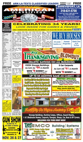 American Classifieds Shreveport LA November 17th 2016