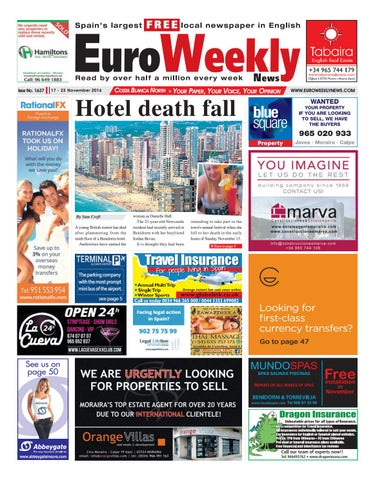20e9741a731d3 Euro Weekly News - Costa Blanca North 17 - 23 November 2016 Issue ...