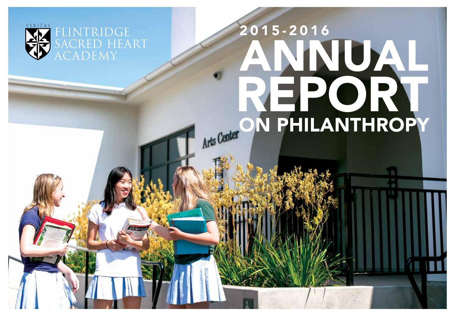 Flintridge Sacred Heart Academy Annual Report 2015-16 by