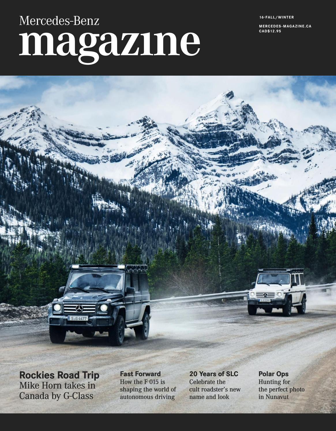 Mercedes Benz Magazine Fall Winter 2016 By Spafax Issuu Wiring Stock Camera To A Rosen Navigation N11 Toyota Fj Cruiser