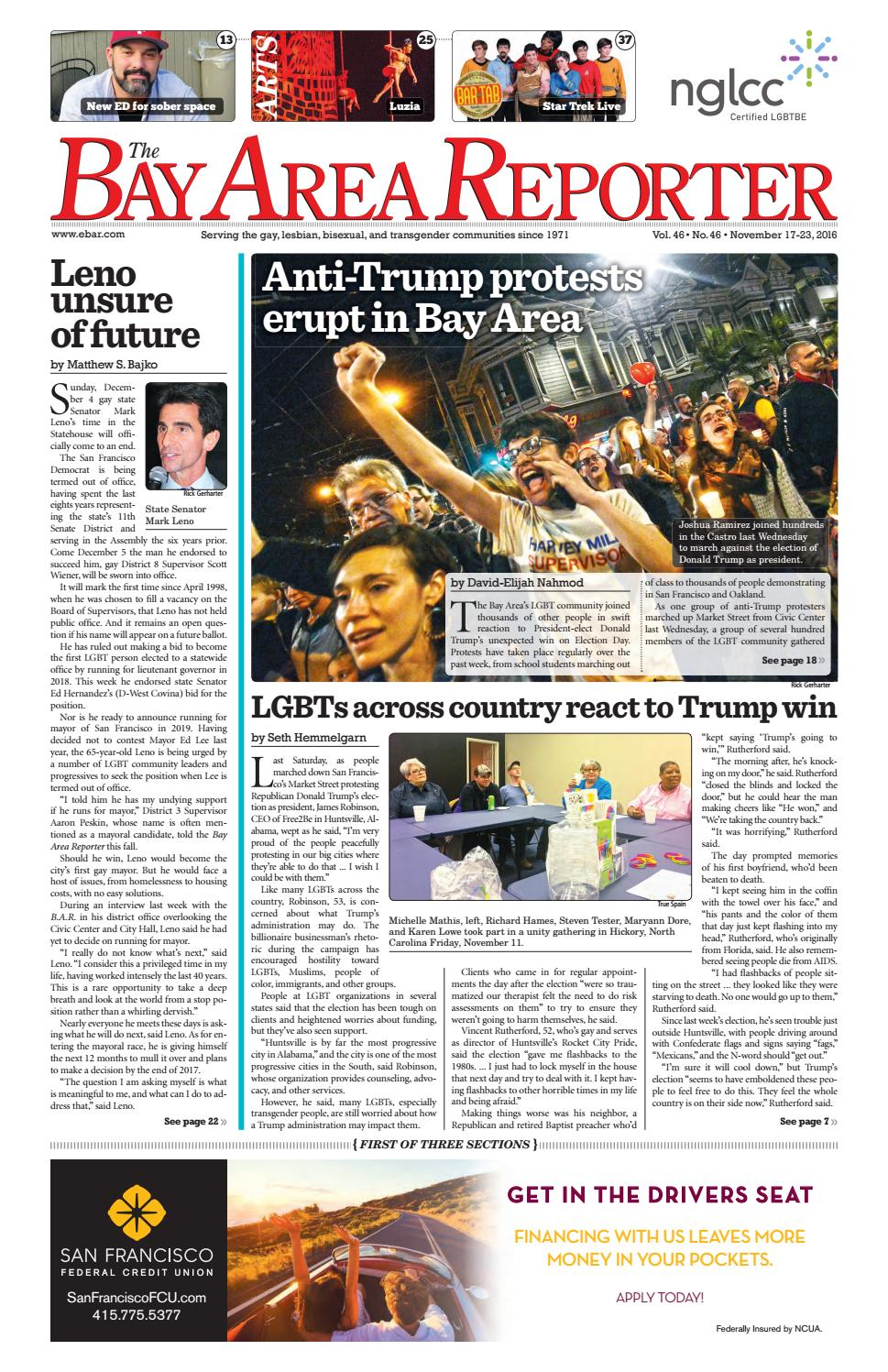 Bay Area Reporter : November edition of the bay area reporter by