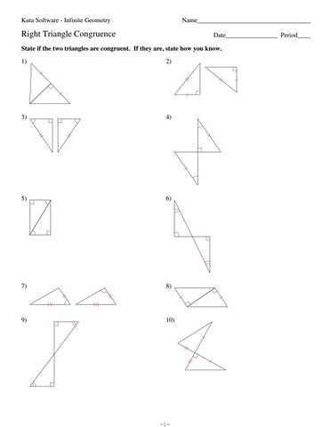 4 Right Triangle Congruence By Hhs Geometry Issuu