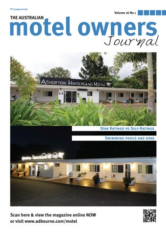 Motel Owners Journal Volume 16 No  1 by Adbourne Publishing - issuu
