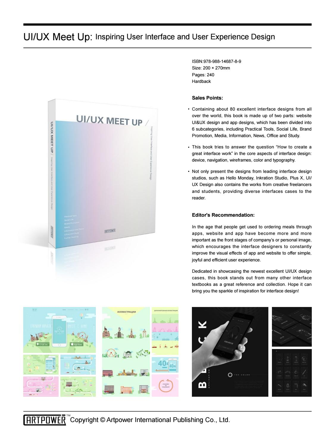 Ui Ux Meet Up Inspiring User Interface And User Experience Design By Artpower Publishing Issuu