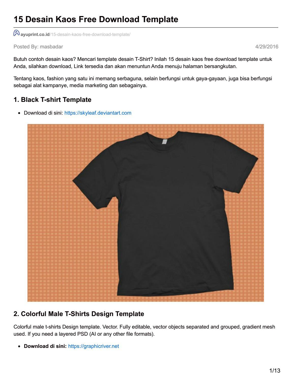 T Shirt Templates Psd Vector