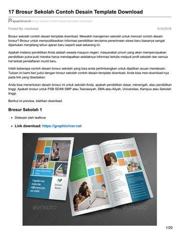Ayuprint Co Id 17 Brosur Sekolah Contoh Desain Template Download By