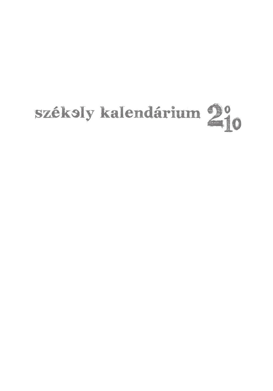 Székely Kalendárium 2010 by Székely Kalendárium - issuu 8fc85869d2