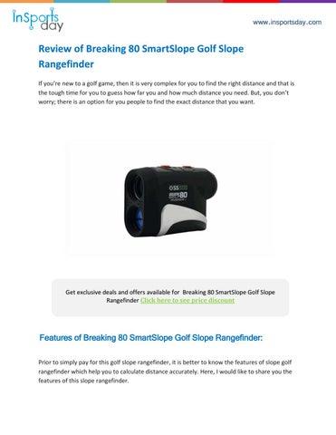 breaking 80 golf laser rangefinder review by insportsday issuu