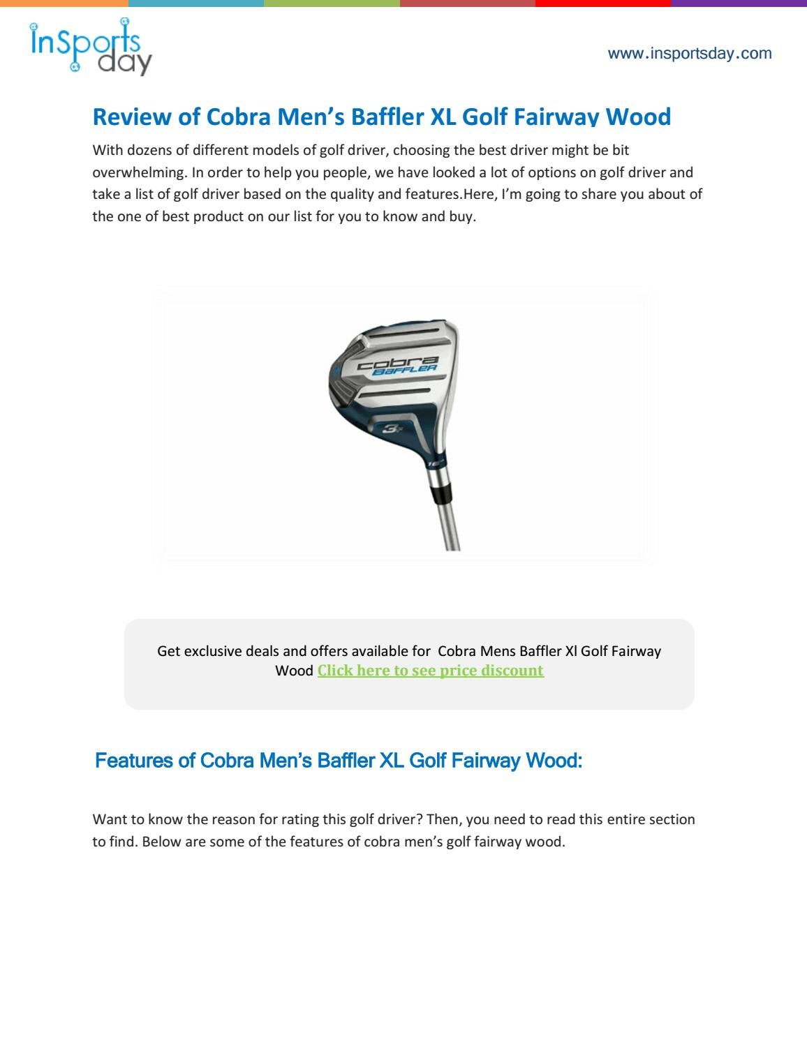 Cobra Baffler Xl Fairway Wood Review By Insportsday Issuu