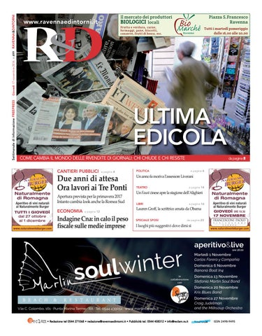 Rd 17 11 16 By Reclam Edizioni E Comunicazione Issuu