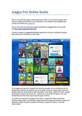 Juegos Friv Online Gratis By Alvaromope Issuu