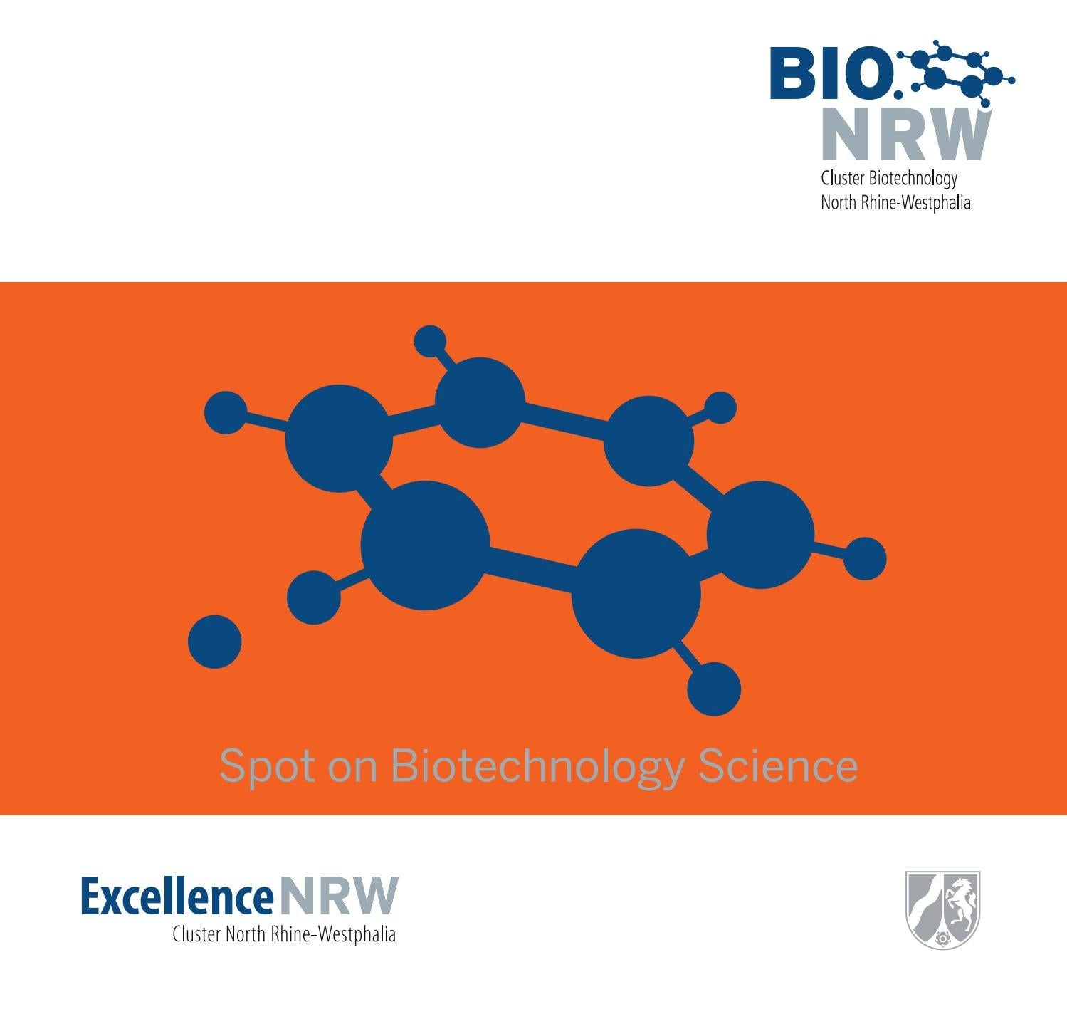 foto de Spot on biotechnology science new edition 2016 by BIO.NRW Cluster ...