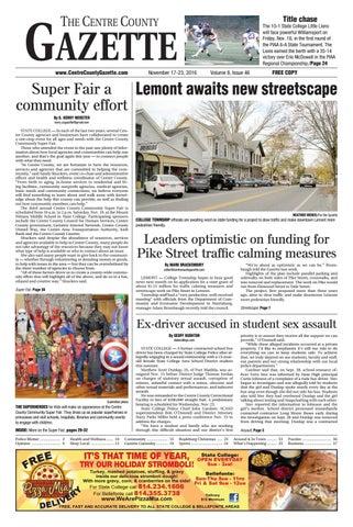 Centre County Gazette November 17 2016 By Indiana Printing