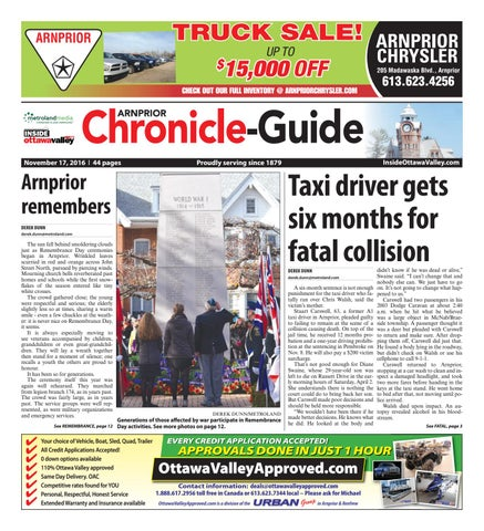 Arnprior111716 by metroland east arnprior chronicle guide issuu page 1 fandeluxe Image collections