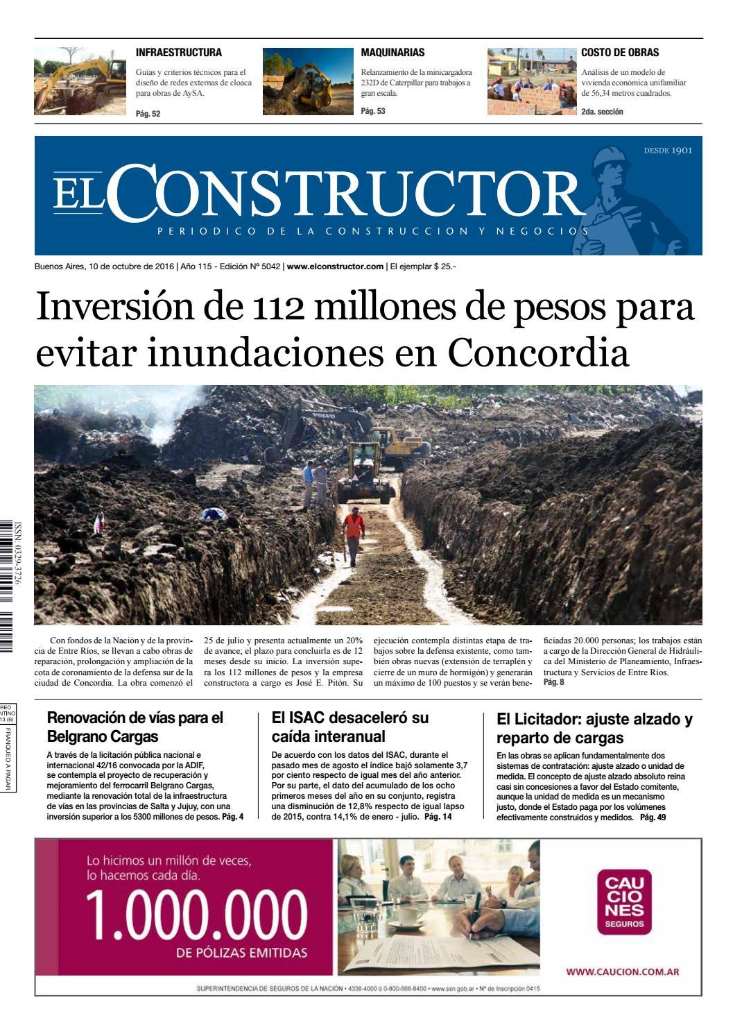 El Constructor 10/10/2016 - N° 5042 Año 115 by ELCO Editores - issuu