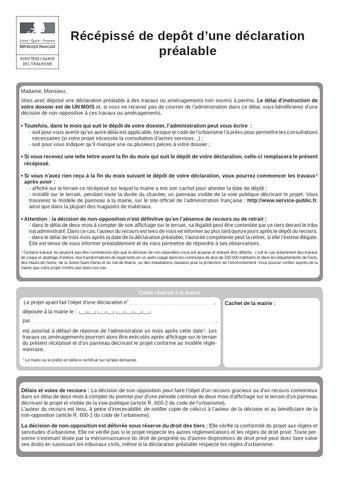 Cerfa 13404 05 d claration pr alable avec ou non d molition by florian lepretre issuu - Declaration de fin de travaux ...