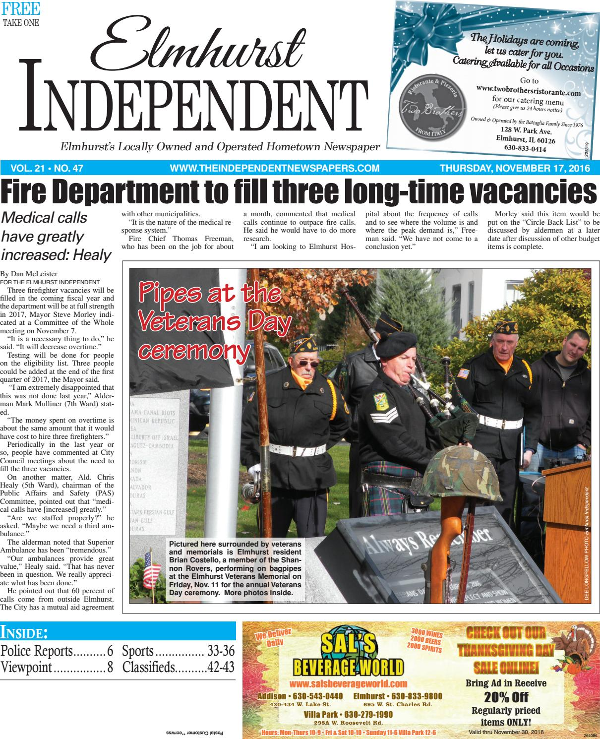 Ei 11 17 16 by Southern Lakes Newspapers / Rock Valley Publishing - issuu