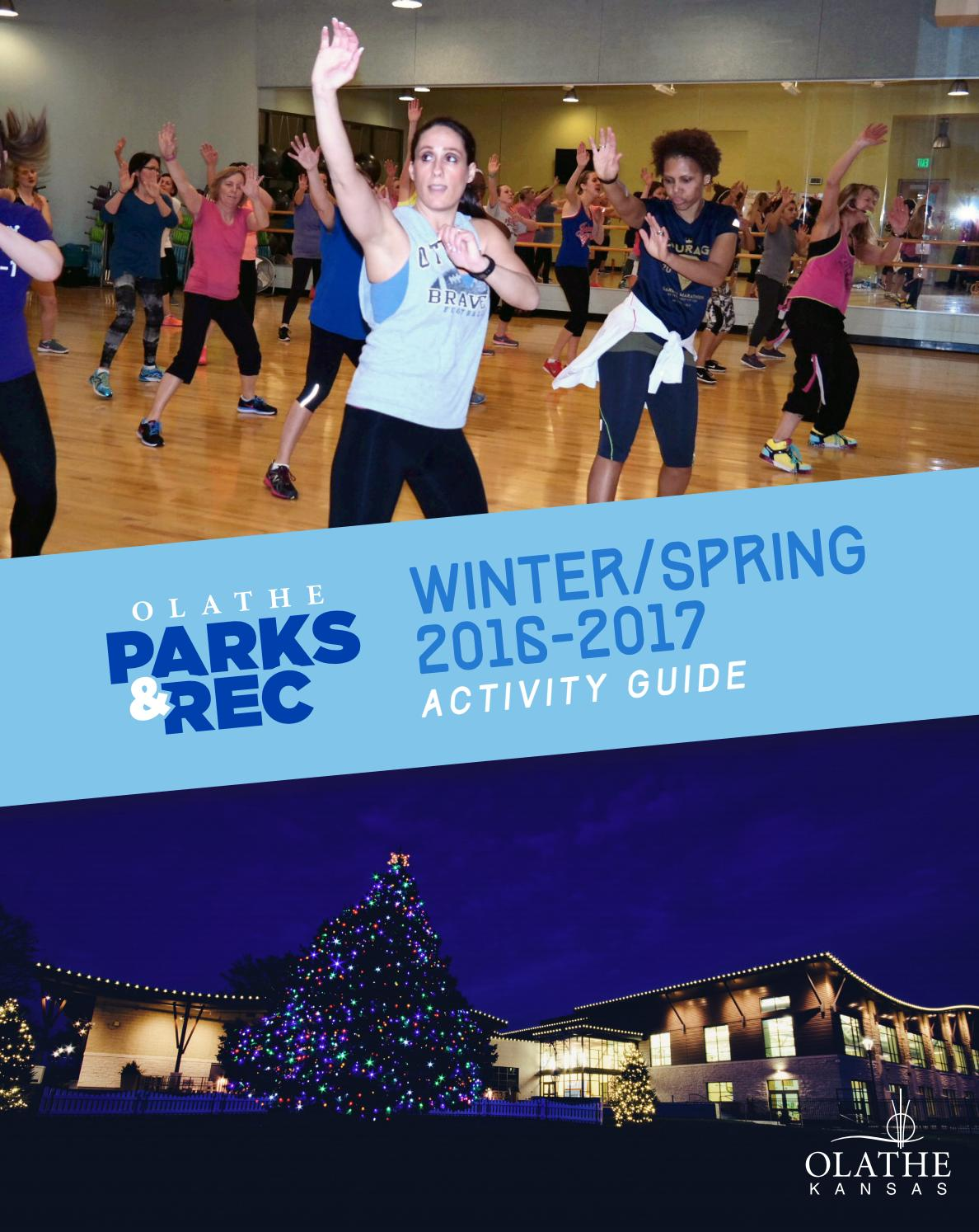 olathe parks u0026 rec winter spring 2016 17 activity guide by olathe