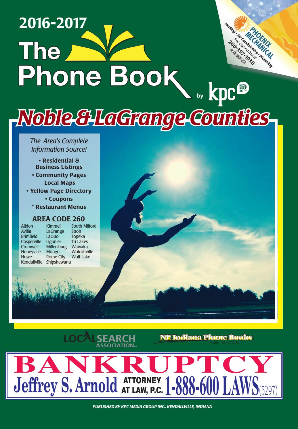 2016-2017 Phone Book Noble and LaGrange Counties by KPC Media Group ...