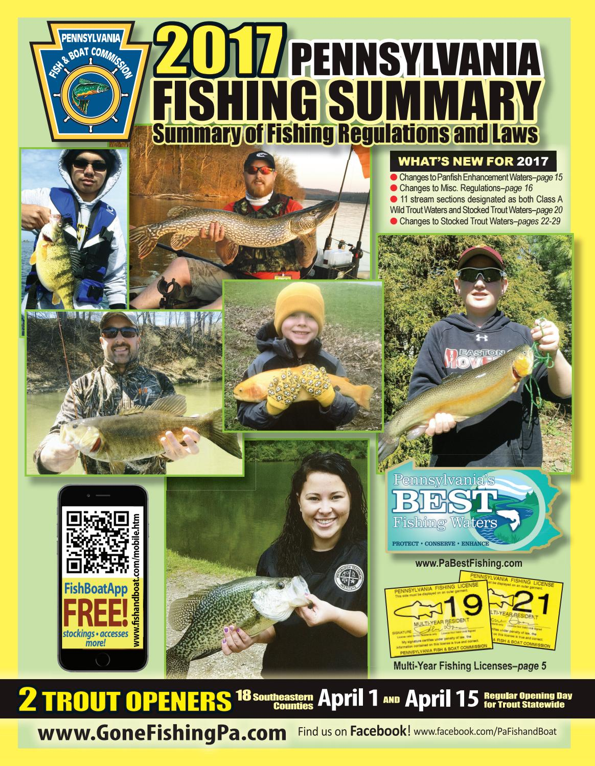 Pa fish summary 2017 by pa fish issuu for Pa fishing season 2017