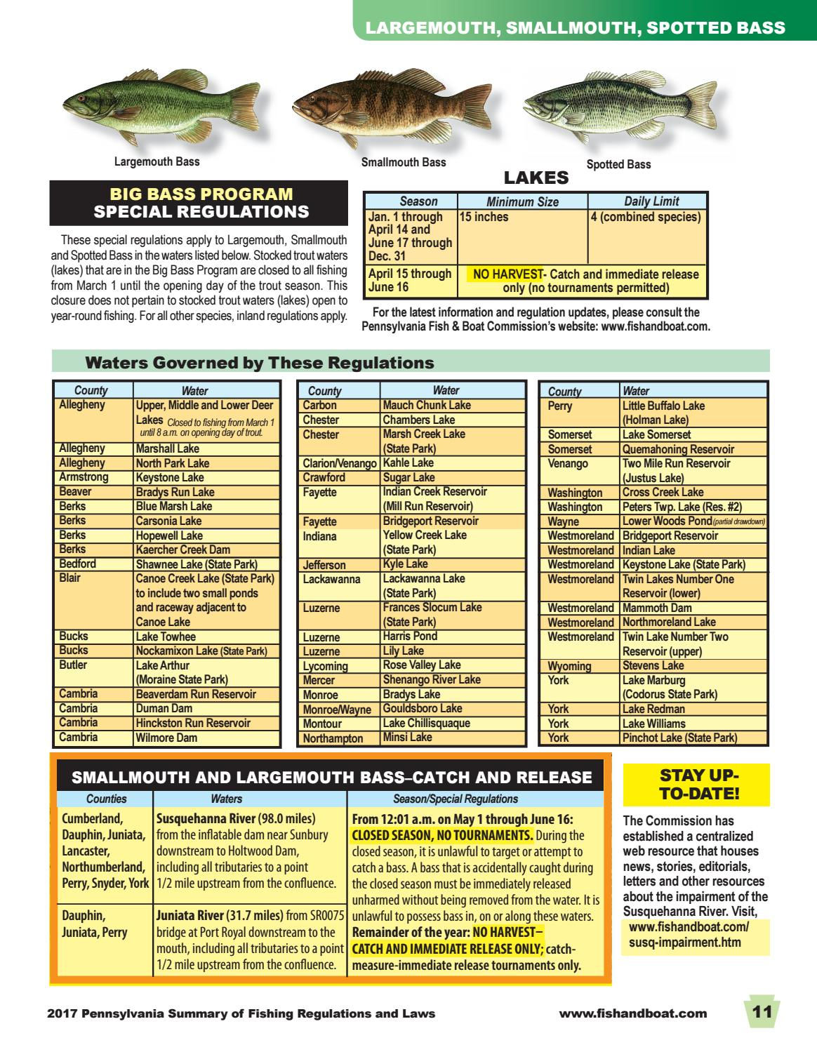 Pa fish summary 2017 by pa fish issuu for Pa fish for free days 2017
