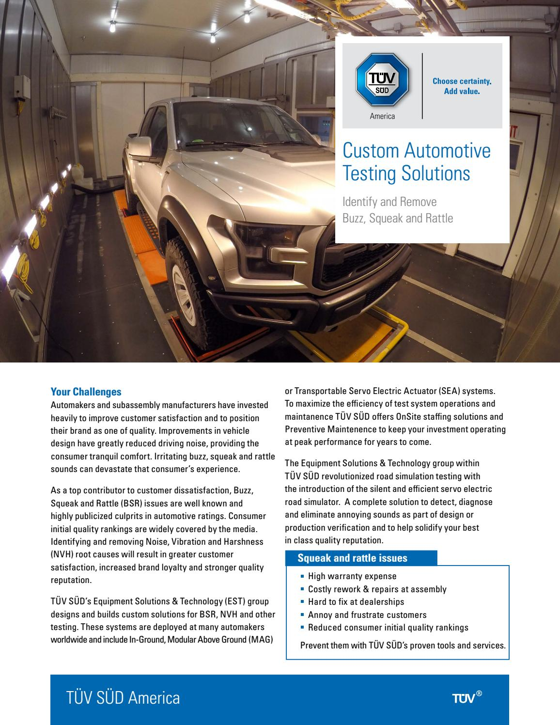 Custom Automotive Testing Solutions: Identify and Remove
