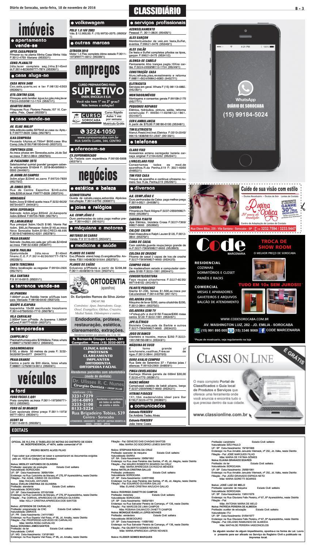 23bbc01af Edição de 18 de novembro de 2016 by DIÁRIO DE SOROCABA - issuu