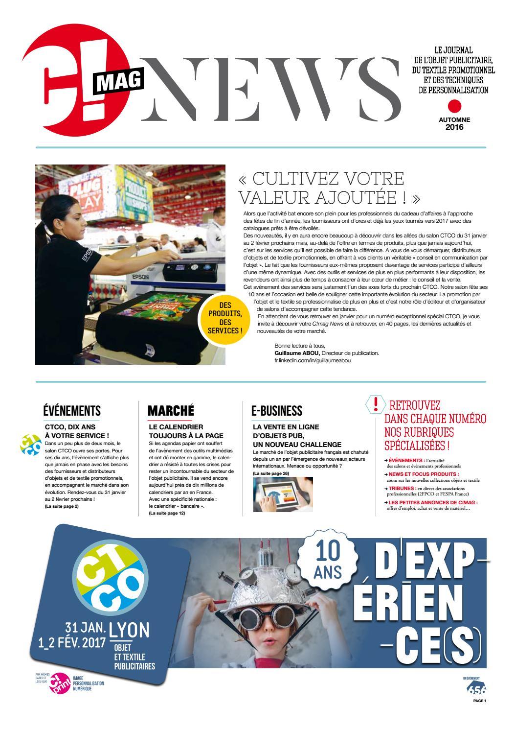 Vente chaude 2019 bon service sélectionner pour plus récent C!mag news automne 2016 by 656 Editions - issuu