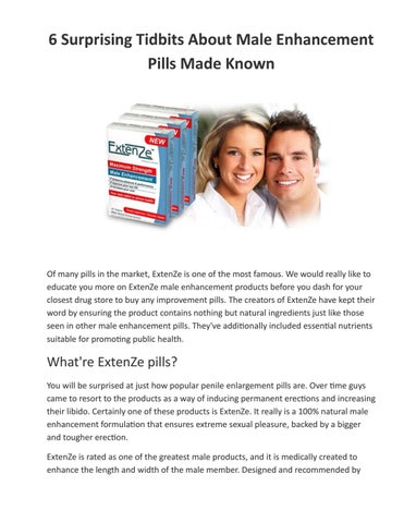 is extenze permanent growth