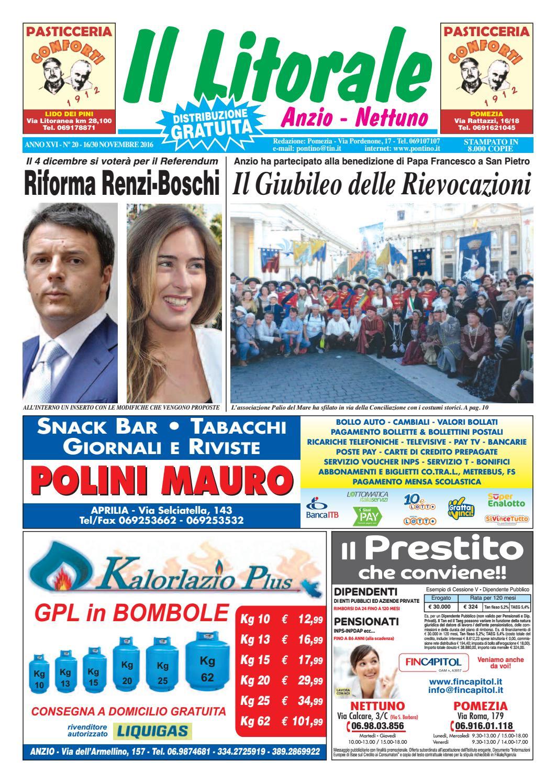 Il Pontino 2016 1630 By Xvi N20 Novembre Anno Litorale k0PwOn8