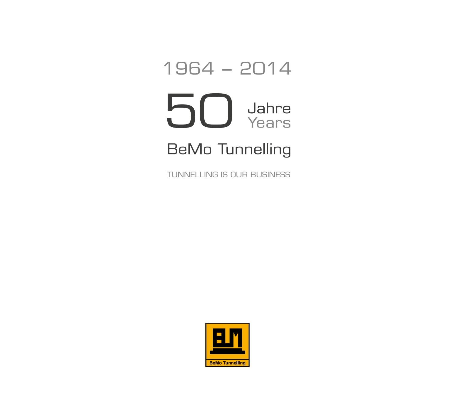 50 Jahre BeMo Tunneling by comdesign.net - issuu