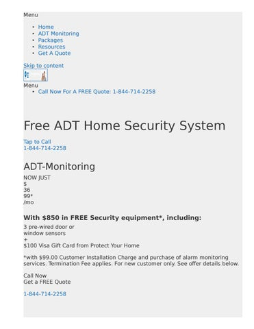 Adt Quote Stunning Best Home Security Systems For Dummies ADT Of Course Available In