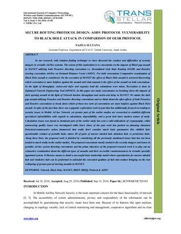 Comparative Performance Evaluation of Ad-hoc on Demand Distance