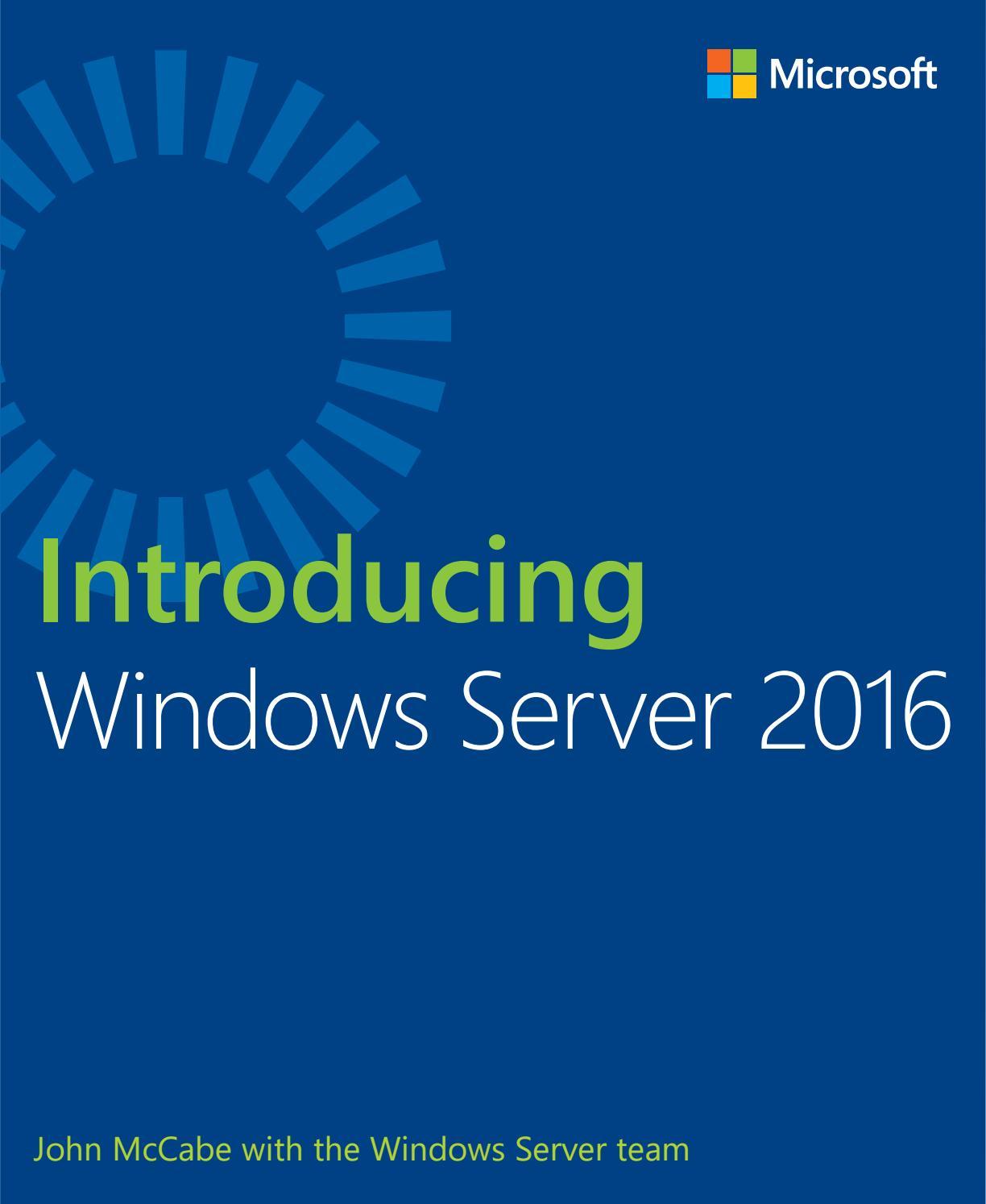 9780735697744 Introducing Windows Server 2016 Pdf By Swilkie2657 Issuu Ata 110 Wiring Diagram B Walkthrough