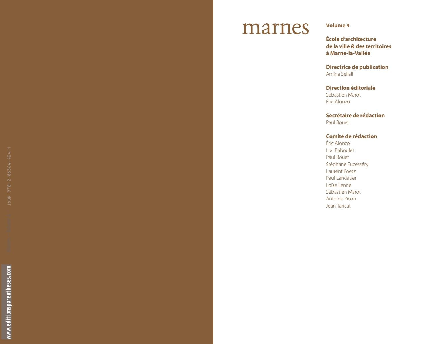 Marnes, documents d'architecture. Volume 2 - Sébastien Marot,Eric Alonzo