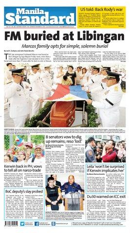 Manila Standard - 2016 November 19 - Saturday by Manila Standard - issuu