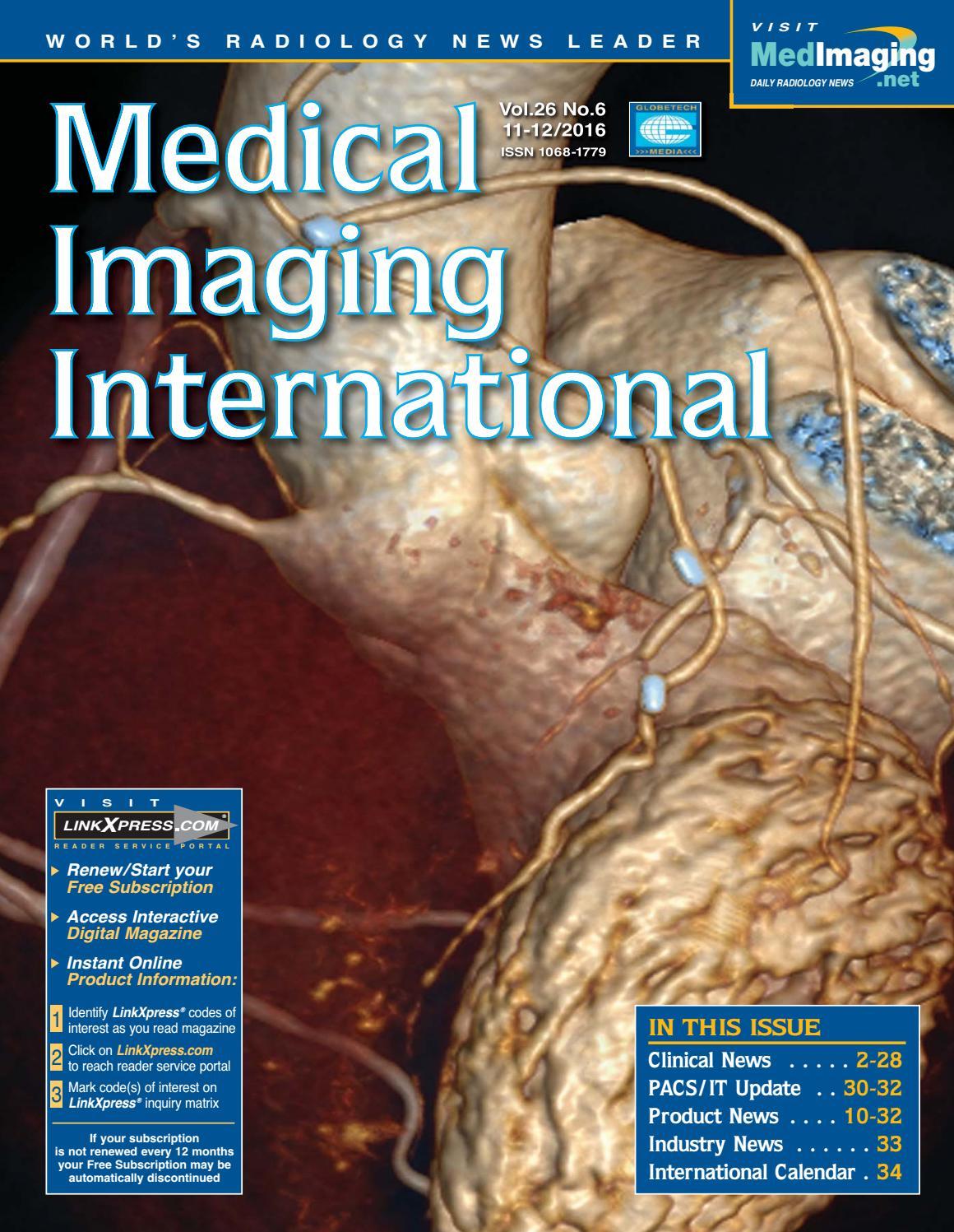 Medical Imaging International December 2016 by Globetech - issuu