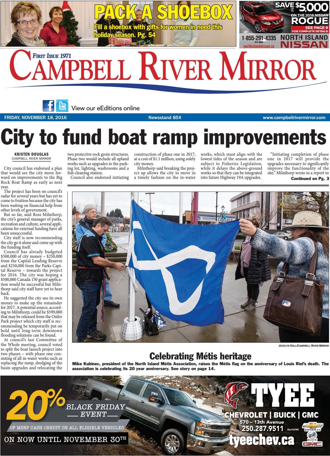 bc3ad4bdd4 Campbell River Mirror, November 18, 2016 by Black Press Media Group - issuu