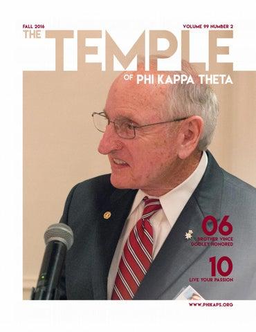 The Temple Journal of Phi Kappa Theta - Fall 2016 by Phi Kappa Theta